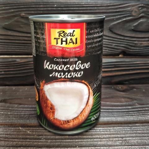 Фотография Кокосовое молоко REAL THAI 85% мякоти / 400 мл купить в магазине Афлора
