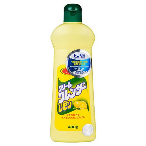 FUNS Крем чистящий для кухни и посуды с ароматом лимона 400 мл