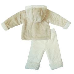 Папитто. Комплект утепленный куртка и брюки, беж/экрю вид 2
