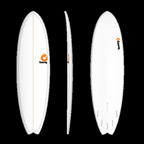 TORQ TET Fish 7'2'' White + Pinlines