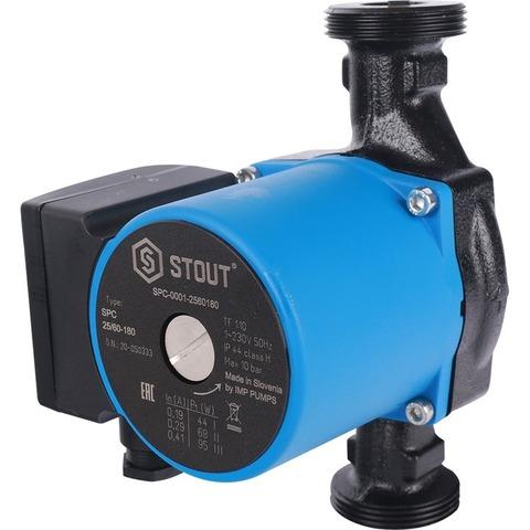 Stout циркуляционный насос 25/60-180 с гайками (SPC-0001-2560180)