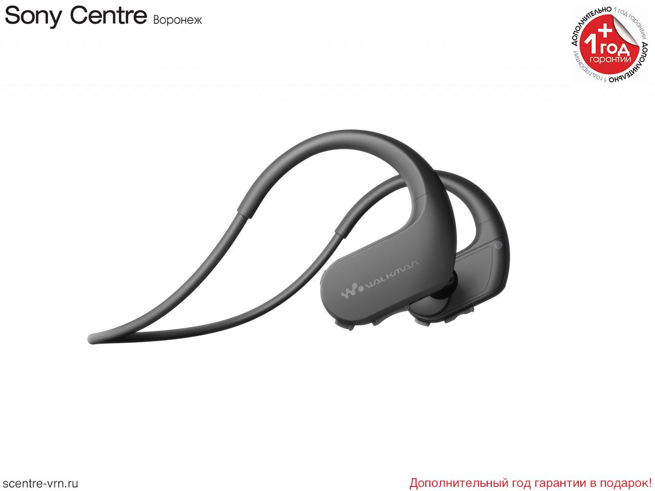 Спортивный плеер Sony NW-WS413 чёрного цвета
