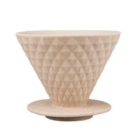 Воронка-дриппер для кофе YAMI Diamond Coffee Dripper V02, коричневая, на 2-4 чашки