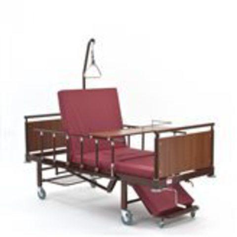 Кровать кресло для лежачих больных с туалетом и столиком КМФ 942А Кардио - фото