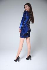 Шелковое платье выше колена оптом