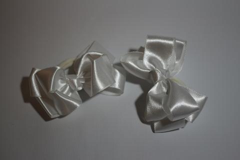 Бант атласный белый (арт.1005 бел)