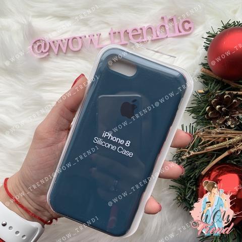 Чехол iPhone 7/8 Silicone Case /cosmos blue/ космос 1:1