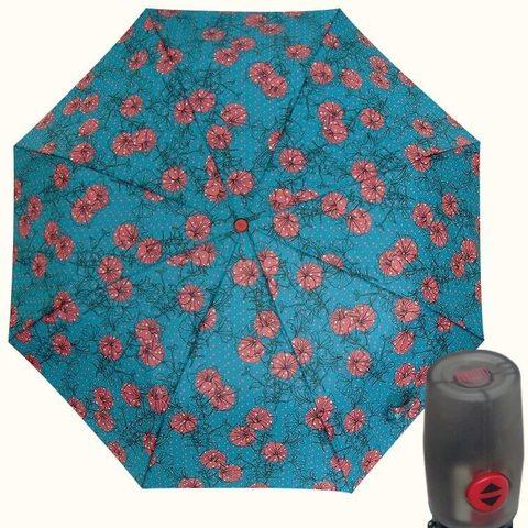 Купить  женский зонт автомат бирюзового цвета