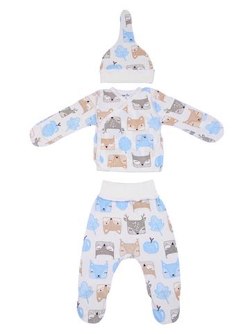 Mini Fox. Комплект для новорожденных 3 предмета, белки голубые
