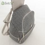 Сумка Саломея 502 твид серый (рюкзак)