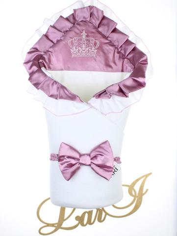 Конверт одеяло Элегантность (белый/розовый)