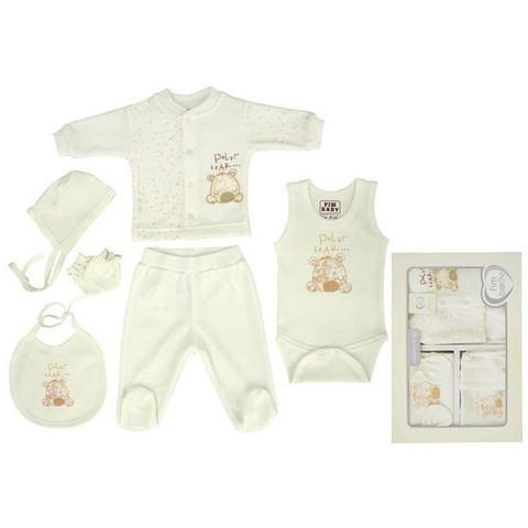 Набор одежды FIMBABY 100864 для детей от 0 до 6 мес. 6 предметов (р.62 бежевый цвет)