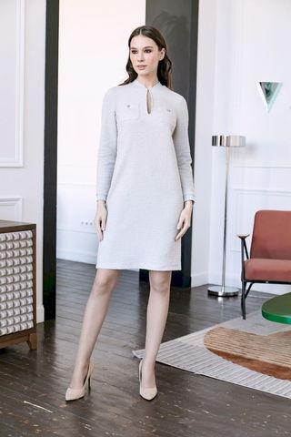 Фото платье с карманами на груди и вырезом-каплей на горловине - Платье З485а-122 (1)
