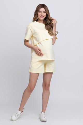 Спортивный костюм для беременных и кормящих 12528 ваниль