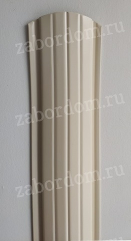 Евроштакетник металлический 110 мм RAL 1015 полукруглый 0.5 мм