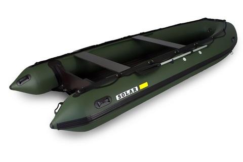 Надувная ПВХ-лодка Солар - 470 Strela Jet Tunnel (зеленый)
