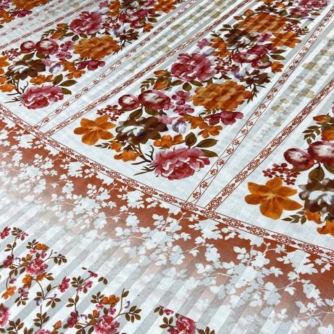 Ткань шифон шелковый купон с цветами Etro 1120