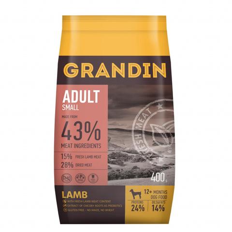 3 кг. Grandin Adult Small корм для взрослых собак мелких пород, с ягненком
