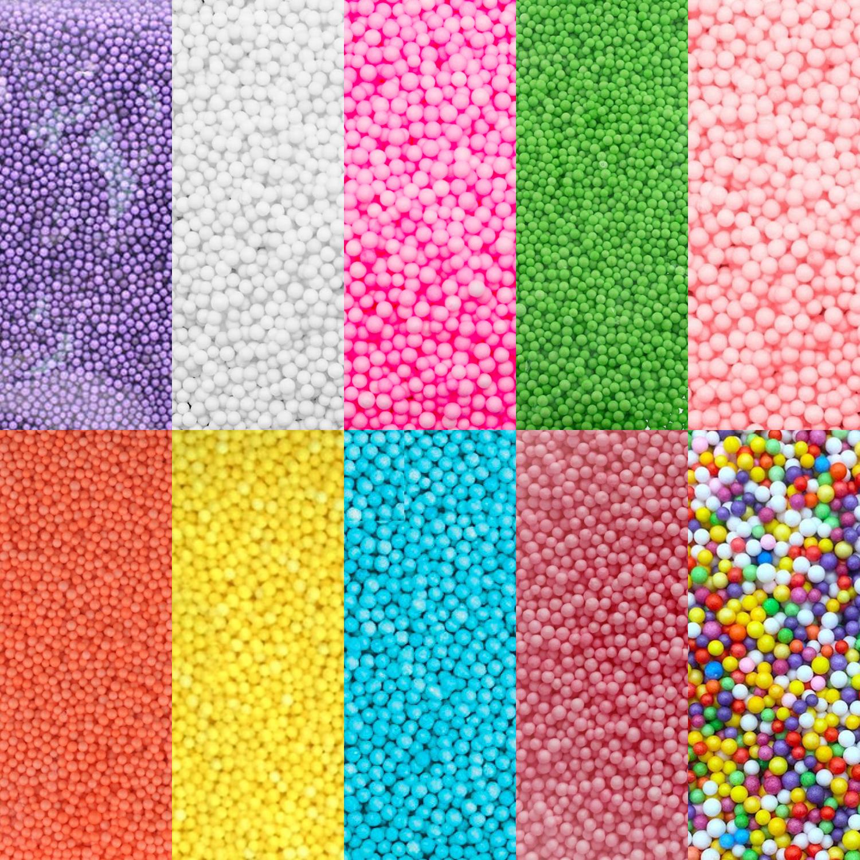 Набор шарики для слайма 10 цветов эконом супермикс