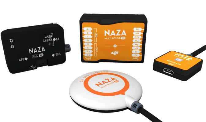 Полётный контроллер DJI Naza V2 + GPS