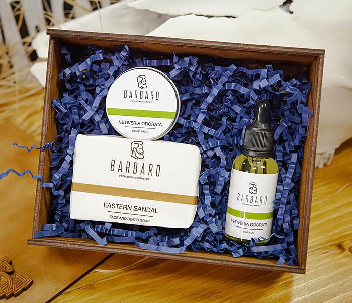 Набор из трех средств для ухода за бородой Barbaro «Vetiveria Odorata»