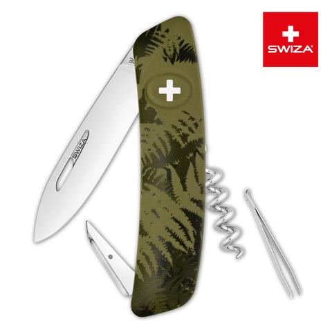 Швейцарский нож Swiza  (KNI.0010.2050) C01 Camouflage 95 мм 6 функций хаки