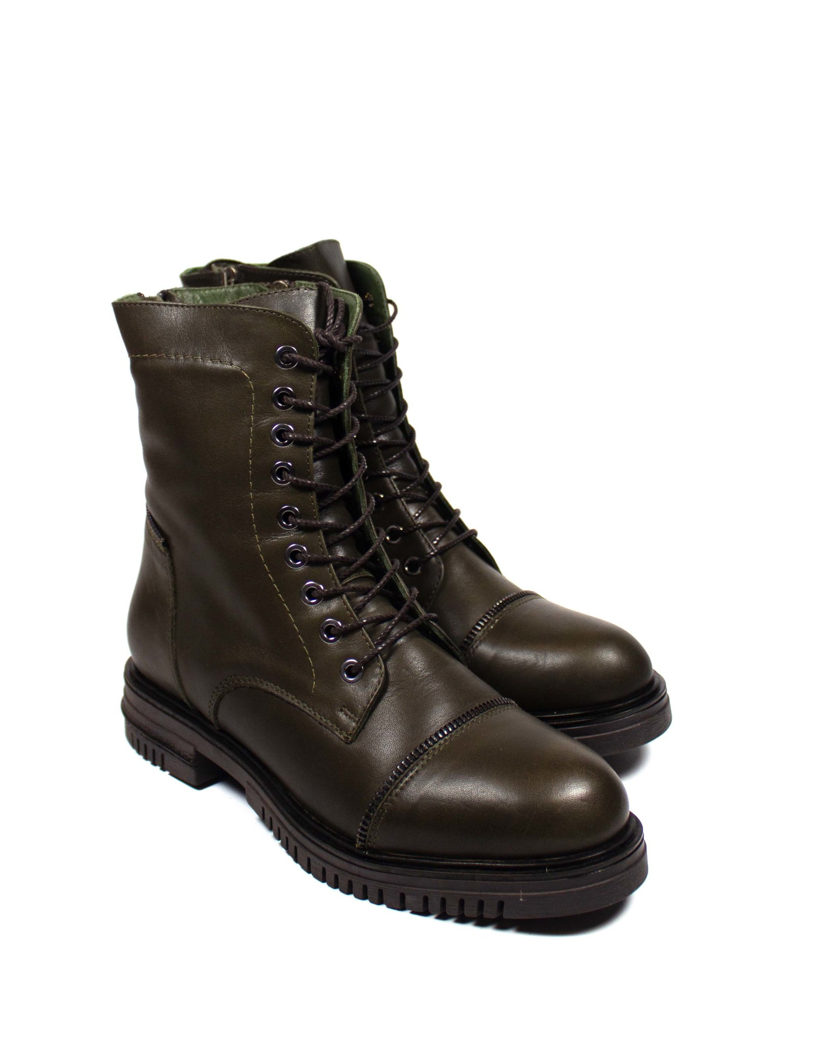 темно-зеленые ботинки Mario Muzi