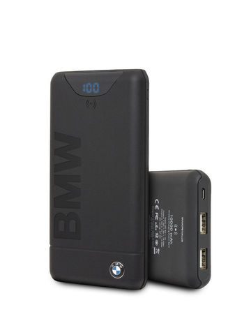 BMW / аккумулятор внешний беспроводной 10000 mAh | цифровой дисплей, 2 USB, Black