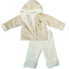 Папитто. Комплект утепленный куртка и брюки, беж/экрю вид 4