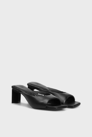 Женские черные кожаные мюли Nina PRPY