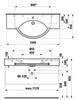 Раковина подвесная Laufen Palace NEW 120х51х16см. с полотенцедержателем 8.1270.4.000.104.1 схема
