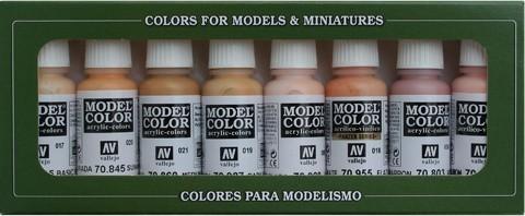 Model Color Face & Skin Tones (8) 17 ml.