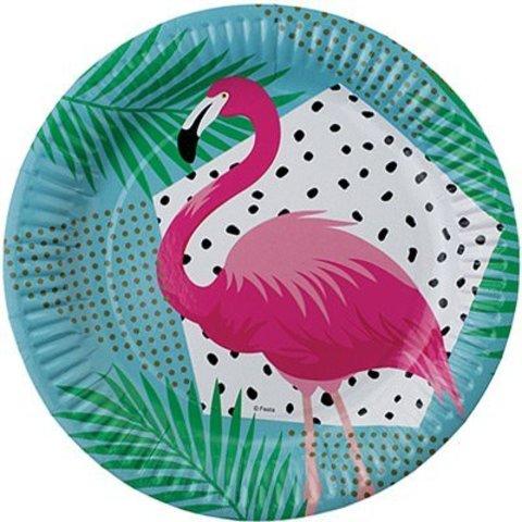 Тарелка бум Фламинго 23см 6шт/G