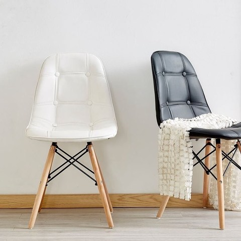 Интерьерный кухонный стул Eames Pulsante / PU / Экокожа