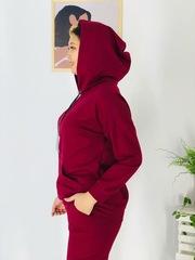 Костюм Fashion брюки+толстовка капюшон однотон (В21)