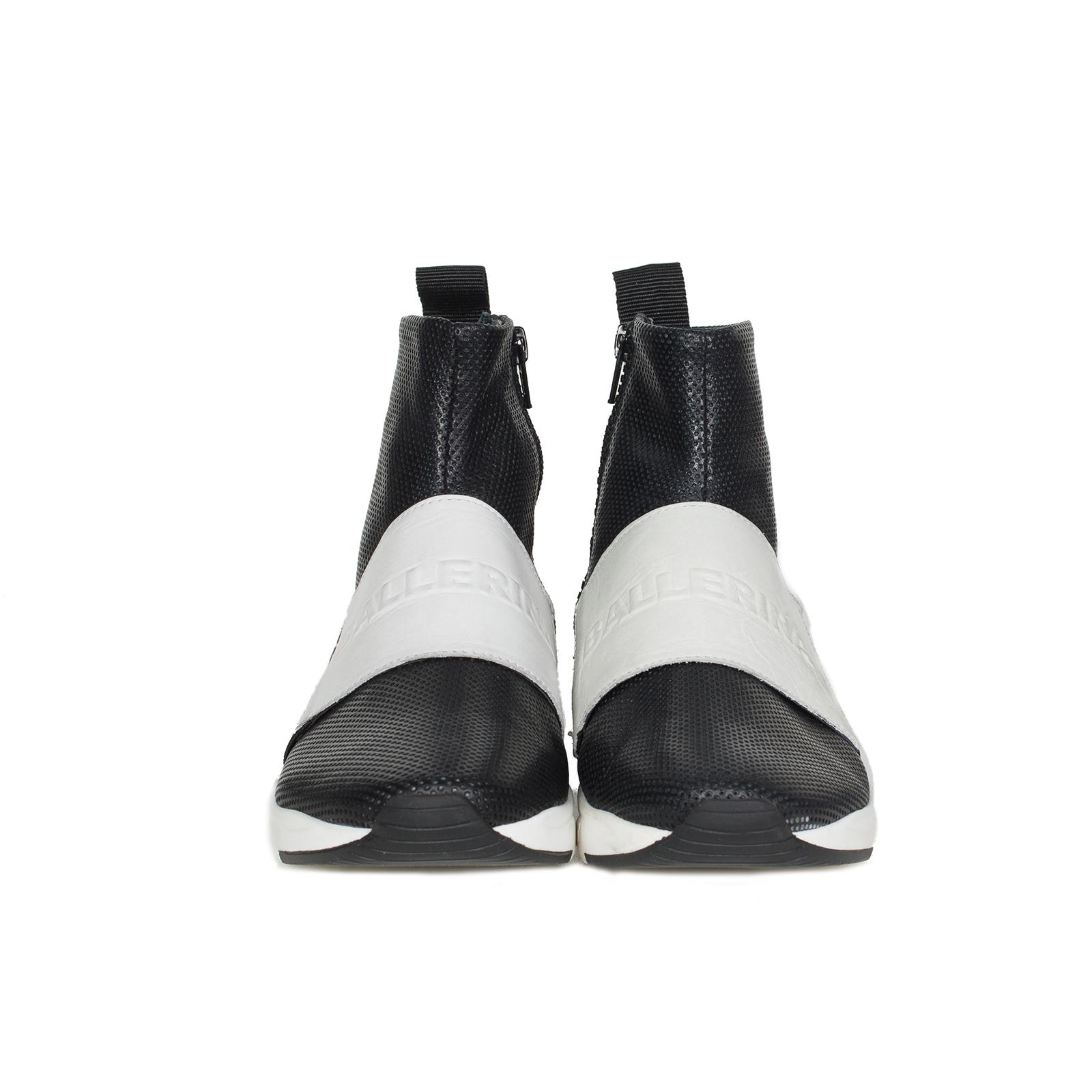 Кроссовки женские, Ballerina, LOGO (черный с белым)