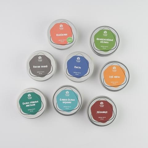 Коллекция зубных паст Голодного Лешего