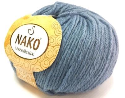 Пряжа Nako Merino Blend DK 1986 серо-голубой