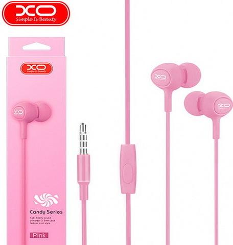 Гарнитура вакуумная XO S6 Candy music (pink)