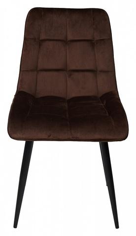 Стул CHIC шоколадный, велюр G062-10 М-City (обеденный, кухонный, для гостиной), Материал каркаса: Металл, Цвет каркаса: Чёрный, Материал сиденья: Ткань, Цвет сиденья: Шоколадный, Цвет: Коричневый