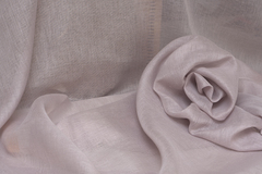 Натуральная льняная вуаль цвет РОЗОВЫЙ