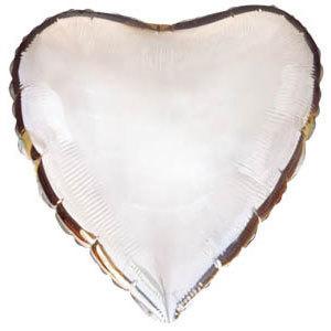Фольгированный шар Сердце SILVER 18