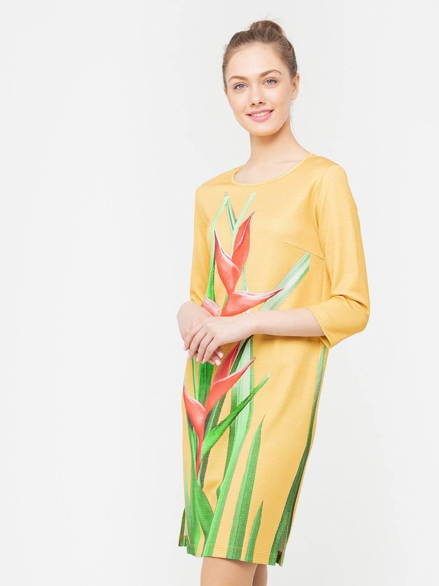 Платье З160-254 - Платье прямого силуэта из плотной, холодной вискозы с эксклюзивным авторским прином от S&S by S.Zotova. Проработанная, удобная модель которая отлично садится по фигуре любого типа. Для тех кто любит в центре внимания!
