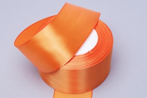 Лента атласная (размер: 50мм х 30м) Цвет:оранжевая