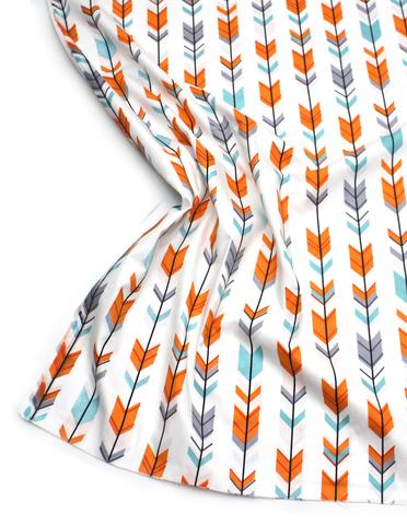 Стрелки серо-оранж на ,белом