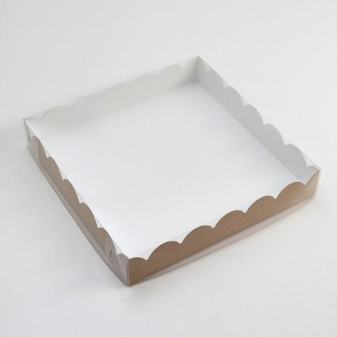коробочка для печенья, крафт, 35*35*6см