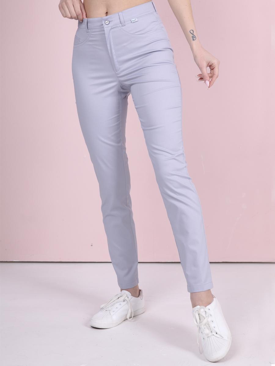 Медицинские джинсы Б-118 светло серые