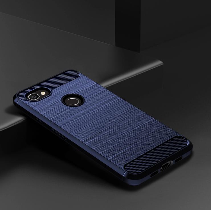 Чехол на Google Pixel3a XL цвет Blue (синий), серия Carbon от Caseport