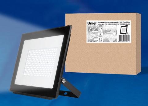 ULF-F20-150W/4000K IP65 195-250В BLACK Прожектор светодиодный. Белый свет (4000K). Корпус черный. TM Uniel.