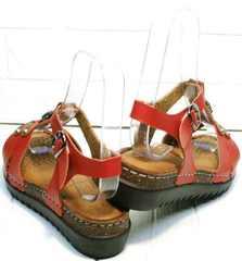Удобные сандали босоножки на невысокой танкетке Rifellini Rovigo 375-1161 Rad.